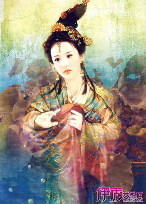 【图】手绘汉朝宫廷美女 汉朝后宫嫔妃唯美手绘图