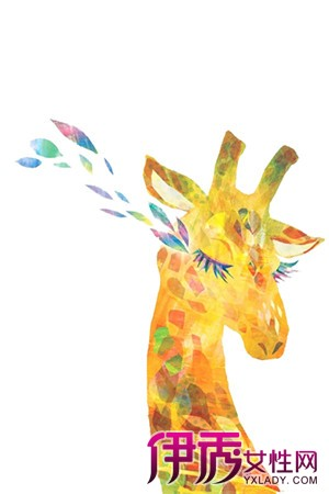 【图】鉴赏长颈鹿手绘插画 世界上现存最高的陆生动物