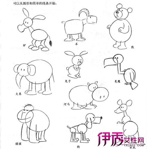 【素描简单卡通动物画】【图】素描简单卡通动物画法