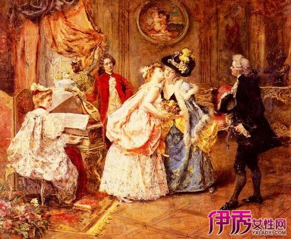 【图】引领油画美学!欧式贵族美女油画图片赏析
