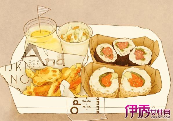【图】日本手绘美食插画作品汇总