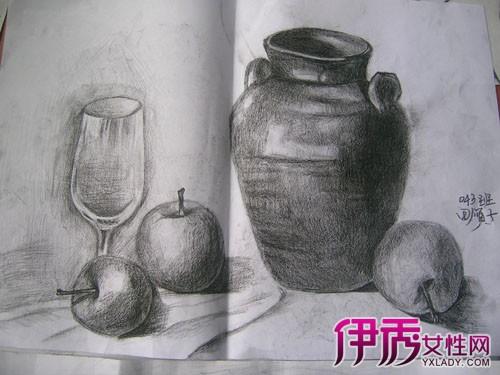 【素描静物水果画法】素描静物水果画法