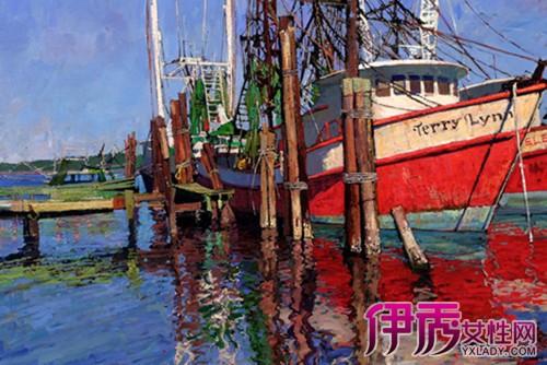 【图】带有渔船的海景油画鉴赏 油画的影响有多大你知吗