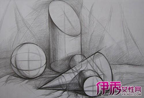 【图】几何设计素描作品鉴赏