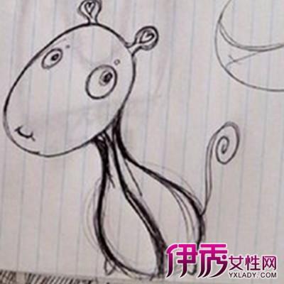 【图】简单动漫动物素描画