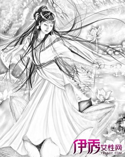 【古代美女服饰素描】【图】古代美女服饰素描