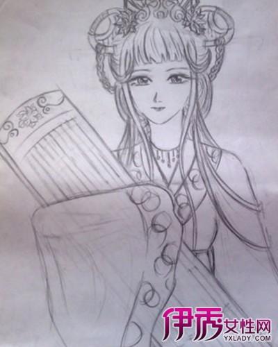 【图】古代美女素描铅笔画图片欣赏 对于铅笔画知识你了解多少