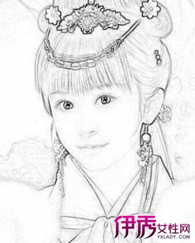 【古代美女素描铅笔画】【图】古代美女素描铅笔画