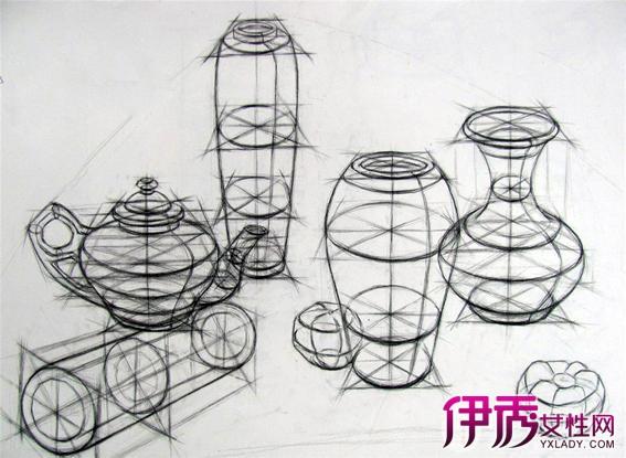【圖】復雜結構素描靜物怎么畫