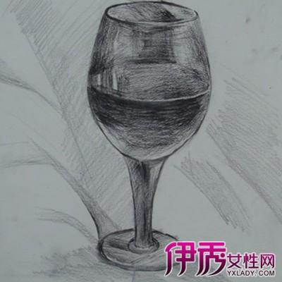 小清新铅笔画水杯背景