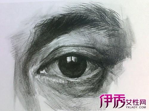 双眼是素描头像中五官体现的重点部位