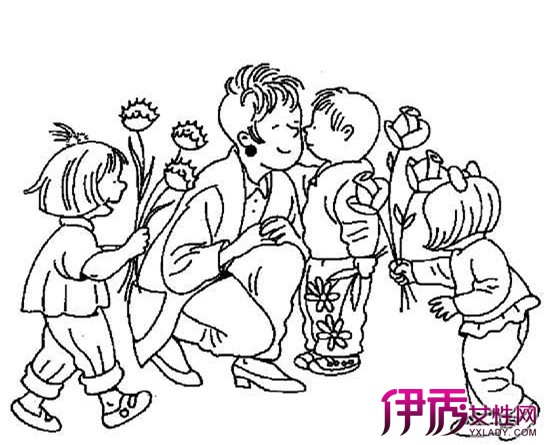 教师节简笔画教程:老师给学生上课图片