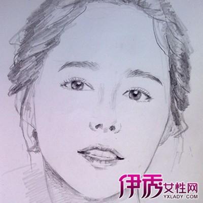 【图】素描女生头像图片展