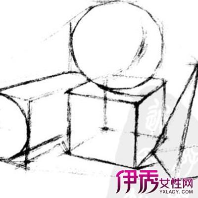【石膏几何体结构素描】【图】石膏几何体结构素描