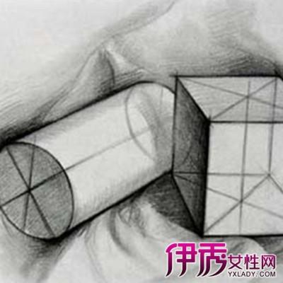 石膏几何体结构素描图片欣赏 球体的结构素描怎么描绘图片
