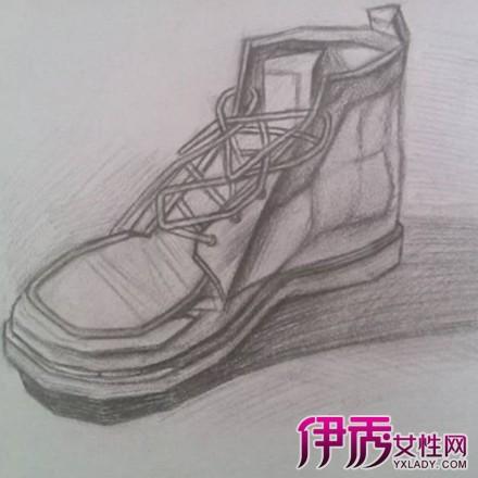 美术素描鞋子图片_铅笔鞋素描图片