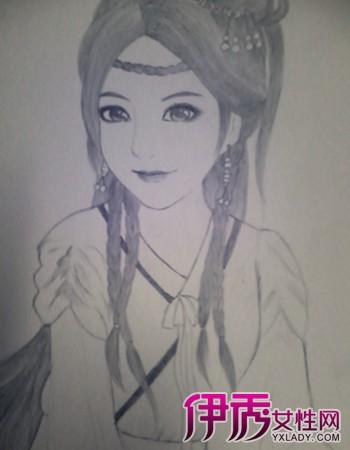 【图】素描古装美女铅笔画图片欣赏