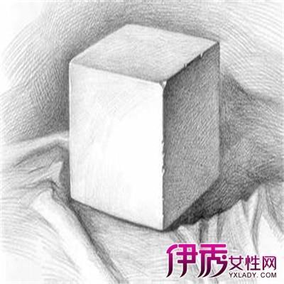 欣赏正方体素描步骤图 教你如何画正方体素描图片