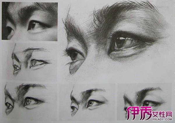 【素描眼睛画法步骤图片】【图】素描眼睛画法步骤