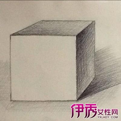 【图】正方体素描画法图解大全 4个步骤保证素描画的层次
