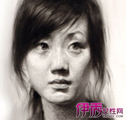 【素描头像女生】【图】一起欣赏素描头像女生美貌 (420x400)
