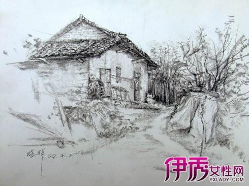 简单铅笔风景素描画学习 大师风景素描入门图片