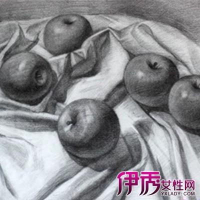 水果素描图片欣赏 教你素描静物水果画法步骤图片