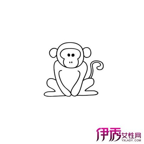 【图】欣赏可爱的猴子简笔画图片