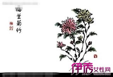 彩铅竹子梅花的画法