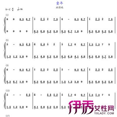 【童年钢琴谱】【图】童年钢琴谱