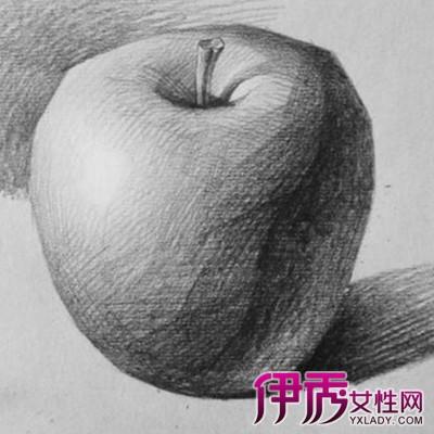 苹果素描步骤大全 4大步骤教你画出立感苹果图片