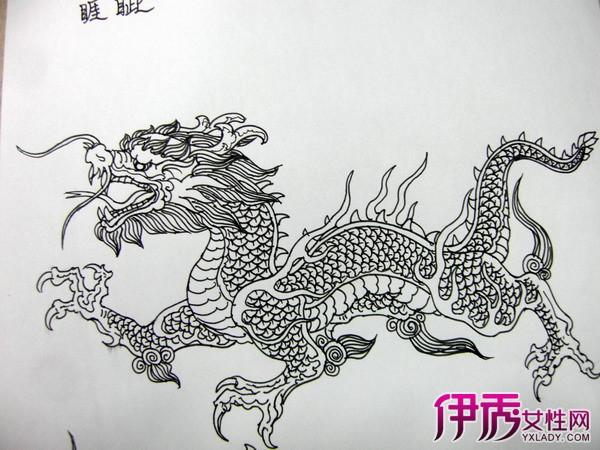 中国龙素描 得心应手的画法图片
