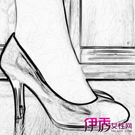 高跟鞋素描设计图展示图片