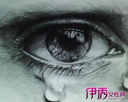 【流泪眼睛素描画法】【图】盘点流泪眼睛素描画法-标志设计元素运图片