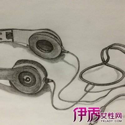 【图】优秀的耳机素描图片 充分展现物体的立体感