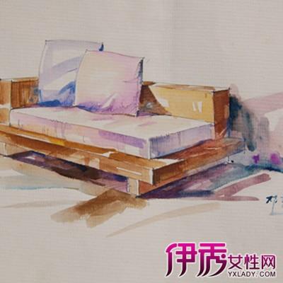 简约手绘线条床