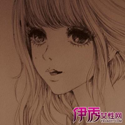 【漫画头像女生素描】【图】漫画头像女生素描图片
