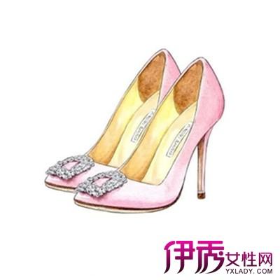 铅笔素描高跟鞋设计图展示