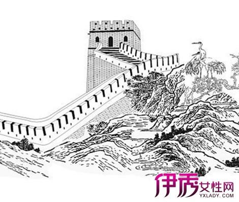 长城简笔画步骤-长城的简笔画 超简单,长城简笔画步骤儿童画,圆明园