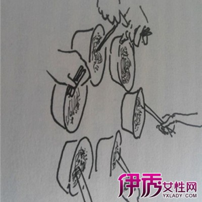 米粉简笔画欣赏 教你多种画法