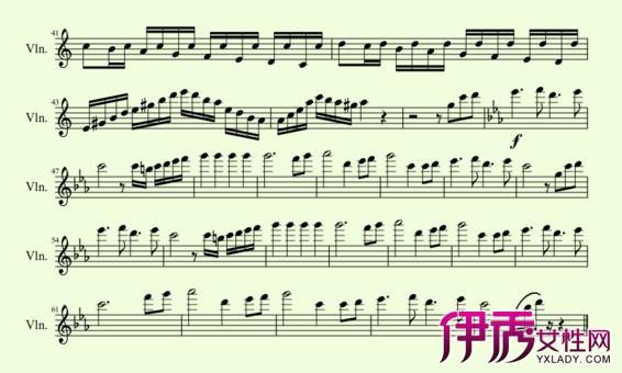 流行歌曲小提琴谱大揭秘 其以演唱调性为主