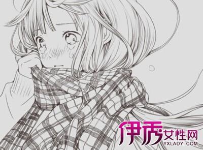 【可爱长发萌女孩素描】【图】可爱长发萌女孩素描图