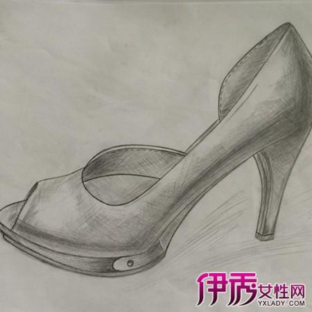 高跟鞋创意设计素描图片图片展示和v素描狗的猫漫画图片图片