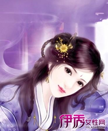 【手绘古装紫衣美女】【图】手绘古装紫衣美女图片