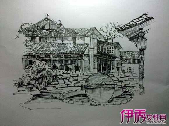 【钢笔素描风景画】【图】钢笔素描风景画介绍图片