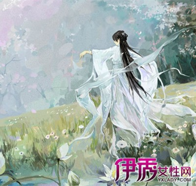 【图】手绘古装白衣女子舞蹈图片欣赏 有曼妙女子纤足轻点勾人魂魄