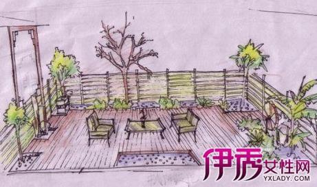 有素描、色彩、钢笔画、透视这些基础课程.-入户花园手绘效果图展
