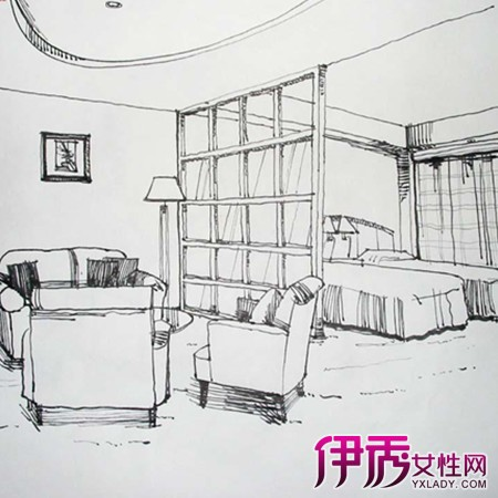 【图】室内设计手绘图线稿件效果图大全