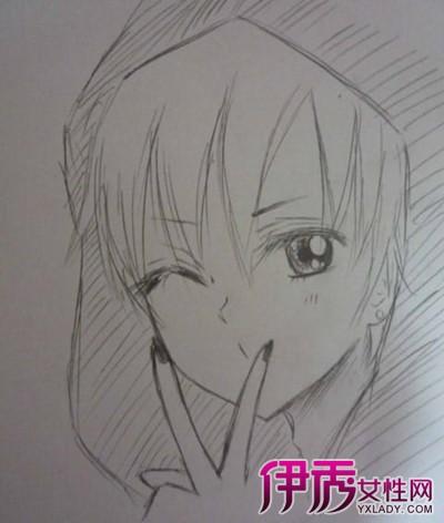 【图】简单的动漫人物铅笔画图片欣赏 教你如何画动漫人物