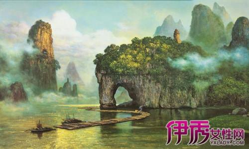 【图】桂林山水油画 描绘人间仙境